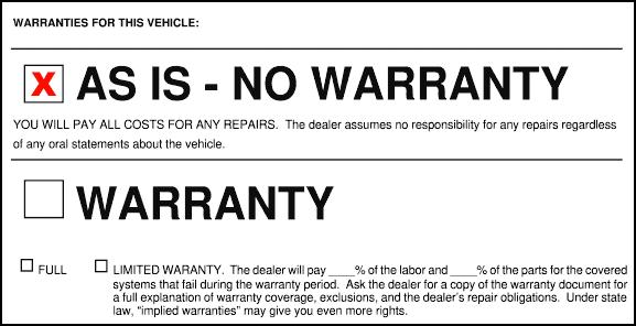 As-Is No Warranty